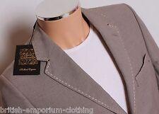 Holland Esquire Beige HAND CUSTOMISED Puppytooth Sports Coat Jacket Blazer UK40
