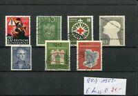 BRD 1953 - 6 Ausgaben gestempelt !