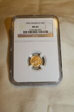 $1 Gold 1903 McKinley NGC Cert MS65               A SOLID INVESTMENT!!!!!!!