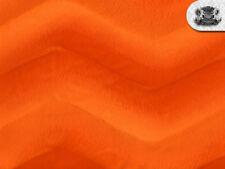 Velboa Wave ORANGE Faux/Fake Fur Fabric BTY