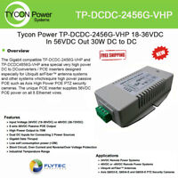 Tycon Systems TP-DCDC-4824G-HP 24V DC Out 30W Hi Power DC to DC Converter and Passive POE Inserter Gigabit
