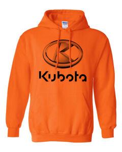Kubota Hoodie Orange Cotton