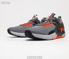Under Armour UA HOVR apex 3 men's sports training shoes Grey Orange  US7-US11