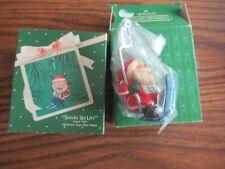 Hallmark Keepsake Santa Ski Lift ornament in box