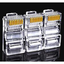 Lot 50pcs RJ45 Cat5 Cat5e Modular Plug Network Lan Ethernet Connector New Style