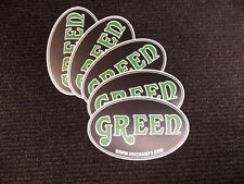 GREEN AMP Electricamp DECALS x5 OFFICIAL TRADEMARK LOGO