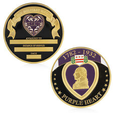 Purple Heart Military Merit Commemorative Challenge Coin Collectible Physical