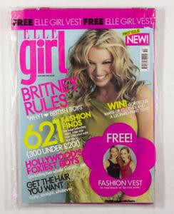 Britney Spears Josh Hartnett SEALED ELLE GIRL MAGAZINE 1 2001 Free vest stickers