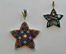 CELESTIAL STAR PENDANT IN TURQUOISE/MULTICOLOR STONES IN .925 STERLING SILVER