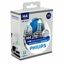2 Bombillas Philips WhiteVision H4 4300K + 2 W5W Faros Coche White Vision Xenon