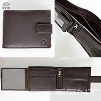 EGNT All in One Wallet RFID GENUINE LEATHER BIFOLD TRIFOLD MENS LUXURY NEW BLACK