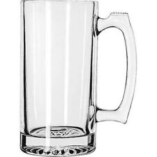 SPORTS MUGS, 24 OZ, THICK CLEAR GLASS, NEW WITH TAGS, FREE SHIP!