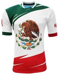 Arza Mexico Fan Jersey for Kids Color White, Red,Green 100% Polyester