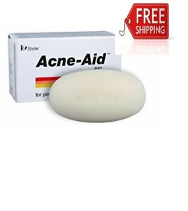 ACNE AID SOAP BAR- STIEFEL DEEP PORE CLEANSING PIMPLE OILY SKIN FACE AID 100 G