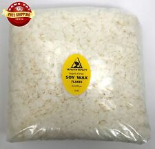 SOY AKOSOY WAX FLAKES ORGANIC VEGAN PASTILLES FOR CANDLE MAKING 100% PURE 5 LB