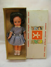 VINTAGE FURGA DOLL ITALY WITH BOX VINYL BRUNETTE WITH DRESS 11in PAOLETTA 3013