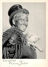 <A13> CHIMNEY SWEEP Postcard Good Luck New Years Chrome Continental Size29