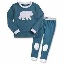 "Vaenait Baby Kids Boys Girls Clothes Pajama Set ""Bono Bear"" XL(6-7T)"