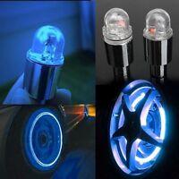 1 Pair Cycling Bike Bicycle Neon LED Wheel Spoke Valve Cap Alarm Wheel Lights v