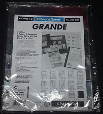 Paquete 5 hojas Grande TRANSPARENTE para billetes 4 divisiones