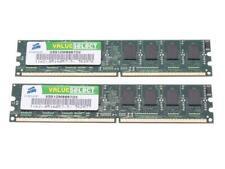1Gb ( 2 x 512mb) DDR2 PC4200 533mhz Desktop RAM Memory Non-ECC 200 pin PC