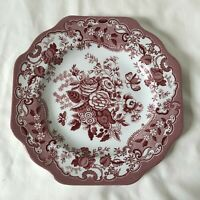 SPODE ARCHIVE COLLECTION BLUE ROSE 9 Inch Plate Red and White NEW