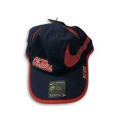 NWT New Ole Miss Rebels Nike Dri-Fit Featherlight Aerobill Adjustable Hat