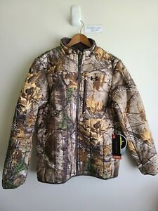 $199 Under Armor Stealth Reaper Extreme Fleece Jacket RealTree 1299282-946 Sz M