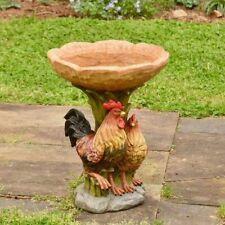 Resin Rooster And Chicken Birdbath Resin Garden Yard Lawn Ornament Garden Decor