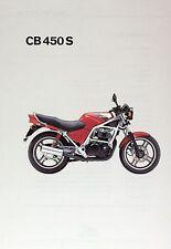 Prospetto HONDA CB 450 S 1985 MOTO prospetto Moto Giappone BROCHURE MOTO