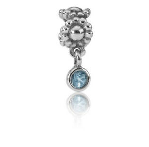 Pandora Sterling Silver Daisy Dangle with Deep Blue Topaz 790386TPP NEW