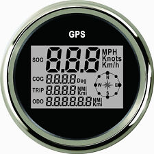 85mm Black Digital GPS speedometer PLG3-BS-GPS (900-00033)