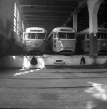 ORIGINAL 1955 CAPITAL TRANSIT DCT TROLLEY STREETCAR NEGATIVE #1103 WASHINGTON DC