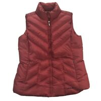 Eddie Bauer Premium Goose Down Womens Medium Purple Quilted Puffer Vest