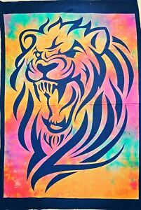 Bohemian Lion Face Indian Wall Hanging Bedroom Home Decor Tapestry Poster Art