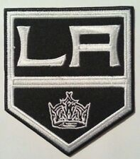 "Los Angeles Kings Embroidered Patch~3 7/8"" x 3 3/8""~NHL~Iron Sew On~Ships FREE"