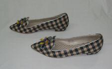 Boden Women's Embellished Plaid Slipper Flats Shoes Size Euro 40 / US 9