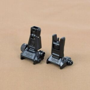 New Metal MBUS PRO Flip-Up Front Rear Hunting Sight Set Free Shipping