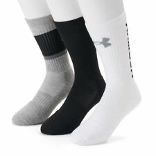 NWT!!! UNDER ARMOUR MENS/Youth TRAINING 3PACK CREW SOCKS Various $20