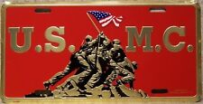 Aluminum Military License Plate U S Marine Corps Iwo Jima NEW Made in USA
