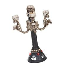 Gothic Skull Skeleton Halloween Table Centrepiece Candle Tea Light Holder