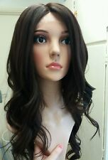Glamour, Brown Human Hair Wig, Real Hair, Hair Blend, lace front