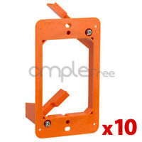 Low Voltage 1 Gang Bracket Mount Multipurpose DryWall WallPlate Lot of 10 NEW