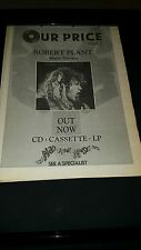 Robert Plant Manic Nirvana Rare Original U.K. Promo Poster Ad Framed!