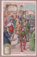 Crusaders Meet Emperor of Byzantine Empire c1905 Trade Ad Card