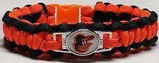 Baltimore Orioles Cartoon Bird Orange & Black Paracord Bracelet or Lanyard