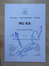"Wu Xia ""Donnie Yen"" Autogramme signed A4 Programmheft Cannes"