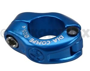 """Dia-Compe MX hinged old school BMX bicycle seat post clamp 25.4mm (1"""") DARK BLUE"""