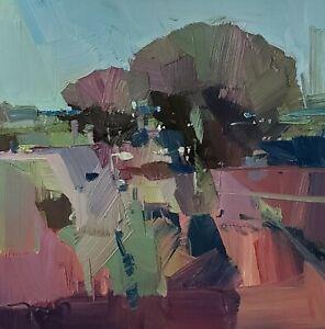 JOSE TRUJILLO Oil Painting IMPRESSIONISM Contemporary 12x12 Landscape MODERN