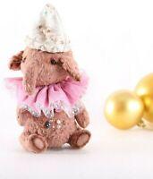Teddy stuffed elephant Michele. OOAK art doll
